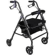 KMINA - Andador KMINA COMFORT 4 Ruedas, Andadores Ancianos, Andador 4 ruedas, Andador