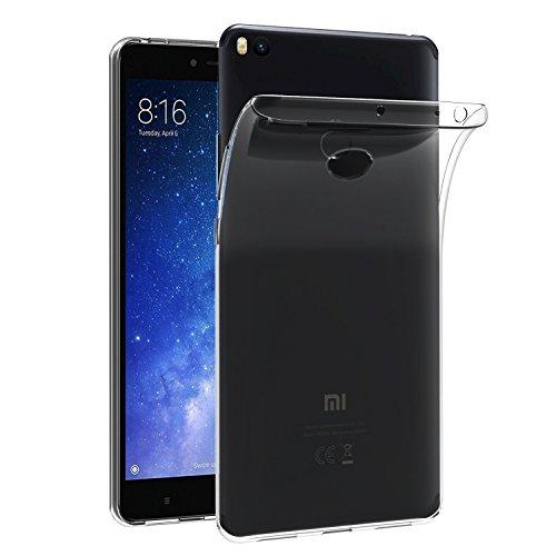 ivoler Hülle Case Kompatibel für Xiaomi Mi Max 2, Premium Transparent Klare Tasche Schutzhülle Weiche TPU Silikon Gel Handyhülle Schmaler Cover