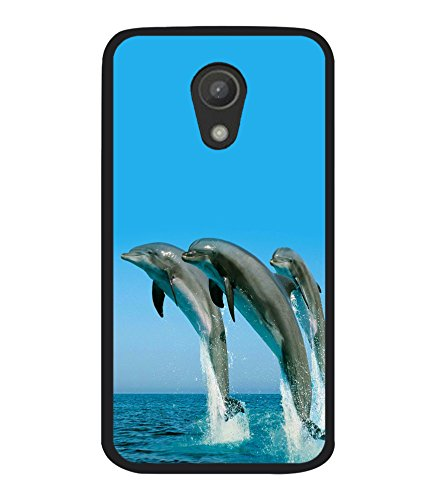 printtech Nature Water Dolphin Back Case Cover for Motorola Moto G2 X1068 , Motorola Moto G (2nd Gen)
