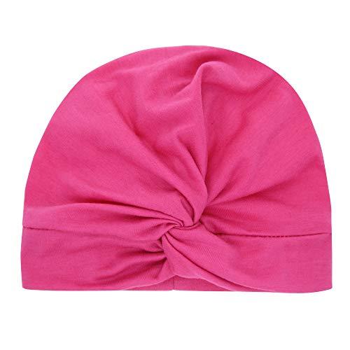 QinMM Neugeborenes Kleinkind Kind Baby Jungen Mädchen Feste Knoten Turban Beanie Mütze Headwear Cap für 3-18 Monate beliebte Neue Jahr Geschenke
