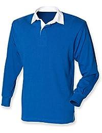 94ab32f21c9 Front Row Men's Long Sleeve Orginal Rugby Shirt