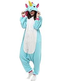 JYSPORT Unicornio Anime Disfraz Cosplay Disfraces Pijamas Kigurumi Trajes Animales Ropa (blue, S)