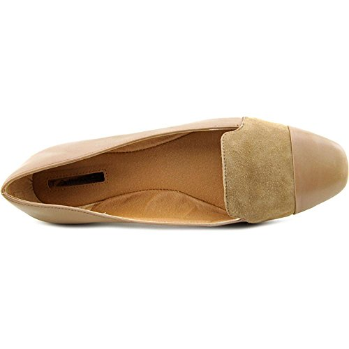 Tahari Indiana Cuir Chaussure Plate Cabin Taupe