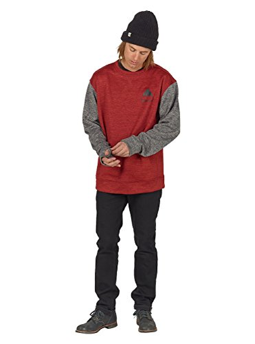 Burton Herren Oak Crew Sweatshirt Tandori Heather