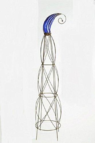 Tuteur Garibaldi Avec Verre amovible Pointe 150 cm + 37 x 46 Pointe Bleu