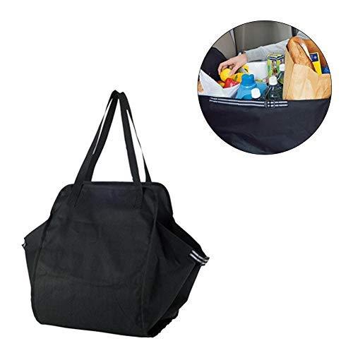 PITCHBLA Wasserdicht Kofferraum Organizer große Faltbare Einkaufstasche Tragetasche klappbare Kofferraumbox Kofferraumtasche Auto Aufbewahrungstasche Klappbox Falttasche 60.5 × 32.5 × 30cm -