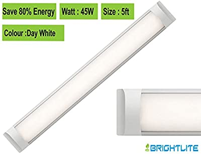 LED Batten slim line Profile Wide Tube Wall and Ceiling Light 5ft 1500x75x24mm 45W Replaces 160W Lifespan 40000h Day White 4500K Brightness 4500lm - low-cost UK light shop.