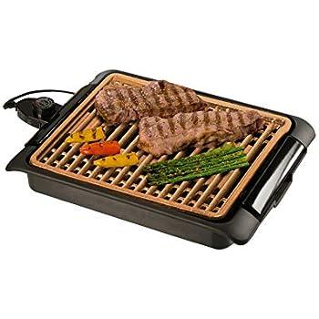 BEST DIRECT Starlyf Smokefree Grill Griglia No Fumo Carne e Verdure Grigliate Set Piastra Extra Cucina Barbecue (Griglia Elettrica Rame)