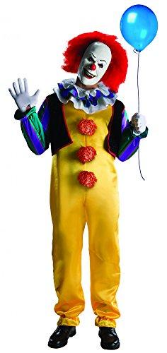 Deluxe Pennywiese Kostüm für Herren Gr. XS-XL, Größe:XL (Es Clown Halloween Kostüme)