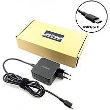 MTXtec–Fuente de alimentación 45W con conector USB de c para tablet, smartphone, Ultrabook, MacBook, Chromebook de Acer, Apple, Dell, HP, LG, Nokia, Samsung