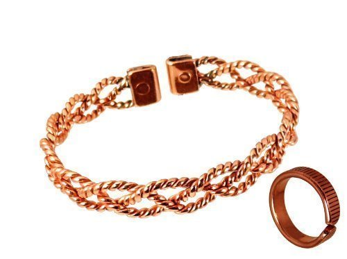 ladies-lace-design-magnetic-copper-bracelet-and-lines-effect-magnetic-copper-ring-combi-set-with-pre