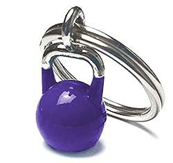 Kettlebell Schlüsselanhänger, Schlüsselring Kettlebellanhänger für Damen und Herren, Farbe Violett, Lila