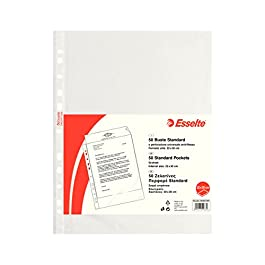ESSELTE Buste perforate STANDARD – PPL antiriflesso – f.to 22 x 30 cm – 395097300