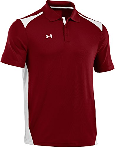 Under Armour – Maglietta Team Colorblock polo Cardinal/White/White