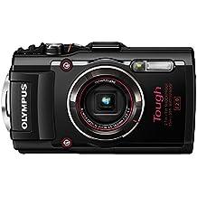 """Olympus TG-4 - Cámara de fotos subacuática de 16 Mp (pantalla de 3"""", zoom óptico 4x, estabilizador digital, grabación de video Full HD, WiFi, GPS), negro"""