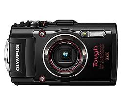 Olympus TG-4 Digitalkamera (16 Megapixel, 4-fach opt. Zoom, CMOS-Sensor, GPS, wasserdicht bis 15 m, kälteresistent, Staub/Stoß und bruchgeschützt, Full HD Video, Live Composite Modus) schwarz