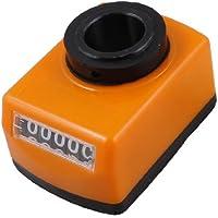 Sourcingmap a12120300ux0056 - Máquina del torno parte diámetro de 20 mm indicador de posición de 5 dígitos digitales negro naranja