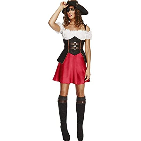 Ladies Fever Caribbean Pirate Wench Fancy Dress (Sexy Del Wench Del Pirata)