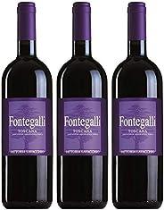 Fontegalli - Super Tuscan - 2013 - Biologico - Fattoria Lavacchio - Toscana - 3 bottiglie da 750ml