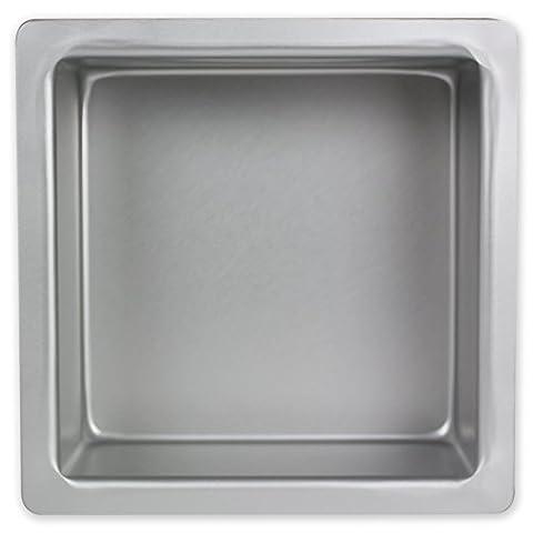 PME à gâteau carré en aluminium anodisé, Aluminium, argent, 10 x 10-inch