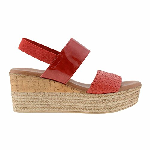 Red sandales en cuir Rouge