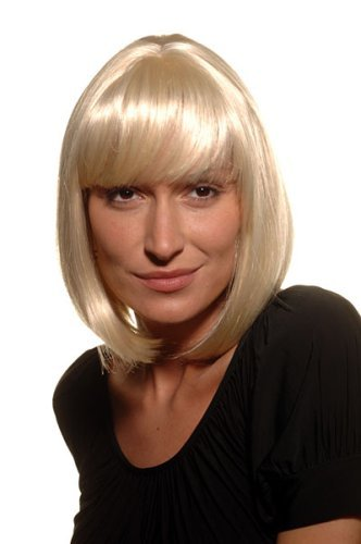 Perücke, blond, Sexy & Selbstbewußt (Blonde Platin Kurze Perücke)