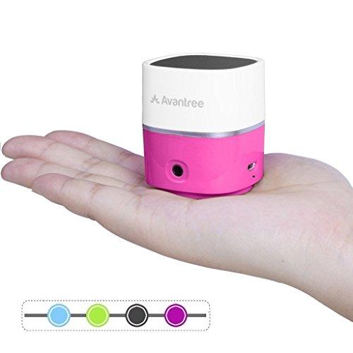 Avantree Mobiler Mini Lautsprecher Bluetooth, satter klarer Sound, Kleine Portable Wireless Speaker, Laut genug für pc, notebook, handy, eine kleine Party oder draußen - Pluto Air Rose -