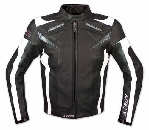 Moto-Giacca-Pelle-Motociclismo-Sport-Gilet-Estraibile-Protezioni-CE-Nero-XXXL
