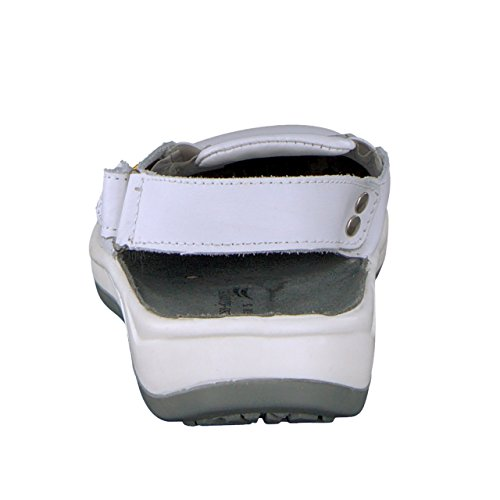 Wellness Comfort + zoccoli da donna ESD professione bianco Bianco