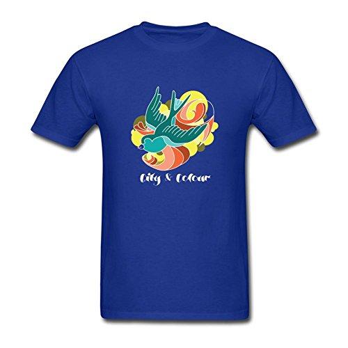 UKCBD -  T-shirt - Uomo blu Large