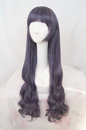 Sakura von Tomoyo cosplay perücke Frau lange cosplay Wig perücke karnevalfasching Halloween Party, Dunkelviolett ()