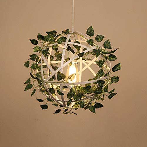 ightt Iron - MC852 Retro Industrie Wind und Blume Pflanze Persönlichkeit Kreative Persönlichkeit Grill Tee Shop Beleuchtung (Color : White) ()