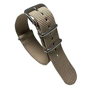 Autulet 20mm Nylon UhrenarmbandMänner Beige