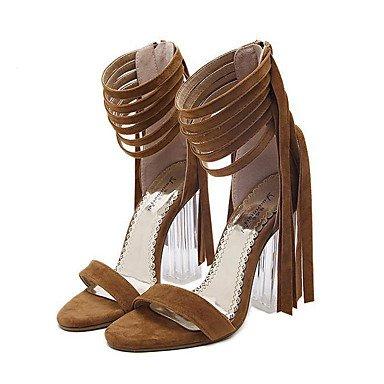 zhENfu Women's Heels Spring / Summer / Fall / Winter Gladiator / Comfort / Novelty Leatherette Wedding / Party & Evening / Dress / Casual Brown