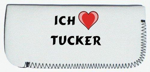 Brillenetui mit Ich liebe Tucker (Vorname/Zuname/Spitzname) Tucker Auto