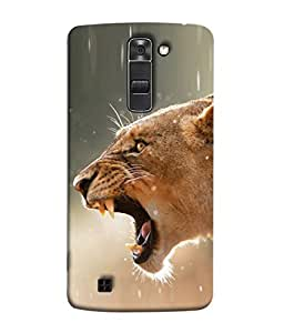 PrintVisa Designer Back Case Cover for LG K7 :: LG K7 Dual SIM :: LG K7 X210 X210DS MS330 :: LG Tribute 5 LS675 (The Lion Grawling In The Jungle Design)