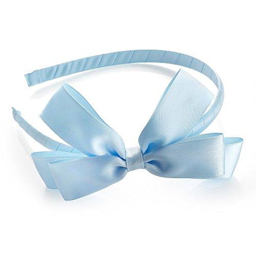 Großen Blauen Satin Gefühl Schleife Motiv Alice Haar Band Haarband