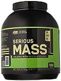 Optimum Nutrition ON Serious Mass Proteina en Polvo Mass Gainer Alto en Proteína, con Vitaminas, Creatina y Glutamina, Chocolate, 8 Porciones, 2.73 kg