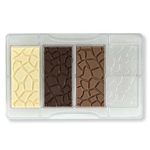 Decora 0050129Form für Schokolade Form Tablet Effekt Schildkröte 20x 12x 2,3cm