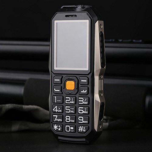 QHJ Dual Sim Outdoor Handy(6800mAh),IP68 Wasserdicht,Stoßfest, Rugged Handy Ohne Vertrag mit Lautem Lautsprecher (Schwarz)