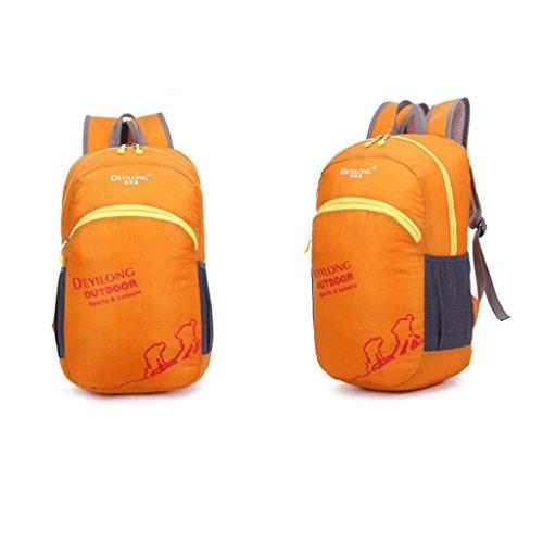 Outdoor Klappfl¨¹gel wasserdichte Tasche im Freien Rucksack fortschrittliche Hauttasche wasserdichte Sonnencreme Ripstop Orange