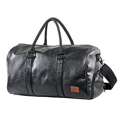 Mioy-Grorumige-Vintage-Leder-Herren-Handgepck-Sporttasche-Overnight-Duffel-Bag-Damen-Reisetasche-fr-Wochenend-Urlaub