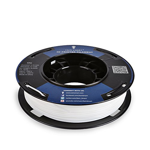 SainSmart 5 Packs Kleine Spule 1.75mm TPU Flexible 3D Filament 250g per Spool, Shore 95A, Weiß, Schwarz, Rot, Blau, Grün - 2