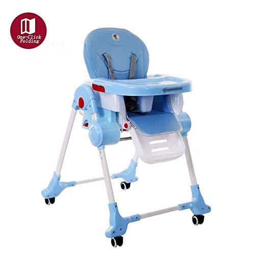 Vxcbndtjd Klapptisch Baby-kompakter faltender Hochstuhl-Reise-Sitz, tragbare justierbare Höhe-Kinderkinderkindersessel kann sitzen und Sich hinlegen, verwendbar für Kind für 0-12 Jahre alt, Purpurrot