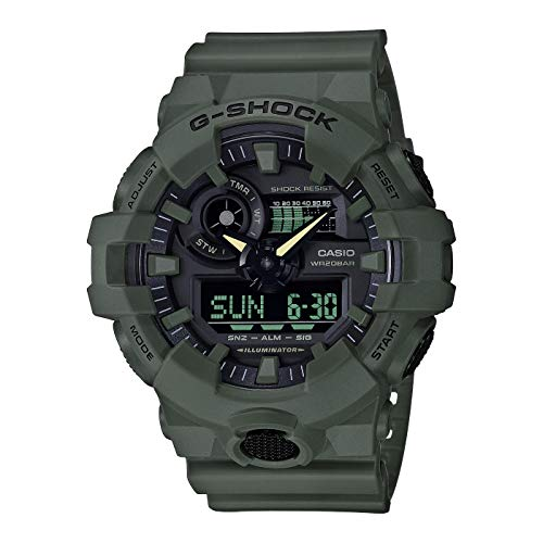 Casio G-Shock Analog-Digital Herrenarmbanduhr GA-700UC grün, 20 BAR