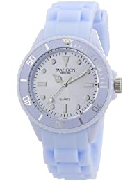Pastell Blaue Madison New York Candy Time Mini Damen Armbanduhr