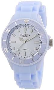 Pastell Blaue Madison New York Candy Time Mini Damen Armbanduhr