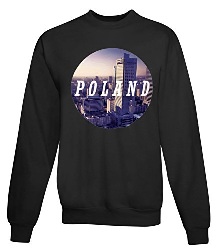 Billion Group | Amazing Poland Warsaw | City Collection | Women's Unisex Sweatshirt Noir