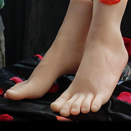 YZZ 1 Paar Silikon in Lebensgröße Mädchen Mannequin Fuß Anzeige Jewerly Sandale Schuhwerk Socke Anzeige Art Skizze -