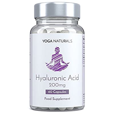 YOGA NATURALS Hyaluronic Acid (HLA/ HA) 400mg 60 Capsules Vegetarian Friendly for Youthful Skin. Cushioning Joints & Connective Tissues. by YOGANATURALS